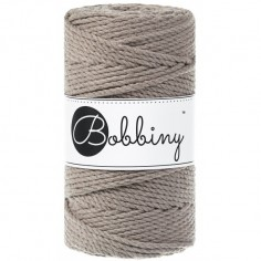 Bobbiny 3PLY macramé šňůry Regular 3 mm coffee