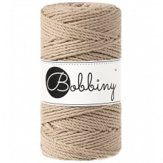 Bobbiny 3PLY macramé šňůry Regular 3 mm sand