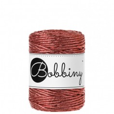Bobbiny macramé šňůry Regular 3 mm metallic-copper